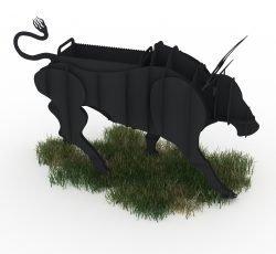 Bull BBQ CNC Plasma DXF Files Download