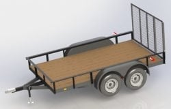 12 ft double axle utility trailer plans