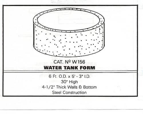 Metal Water Tank Mold Plans