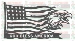 Eagle God Bless America DXF Plasma File Art