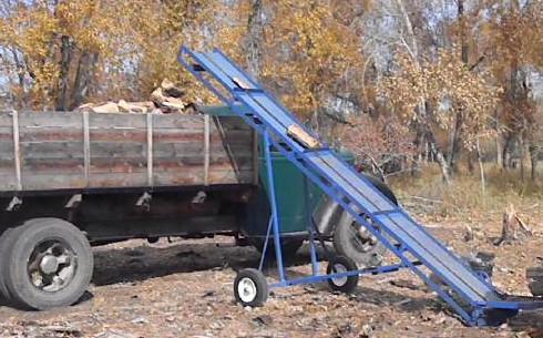hay bale elevator plans, firewood conveyor plans
