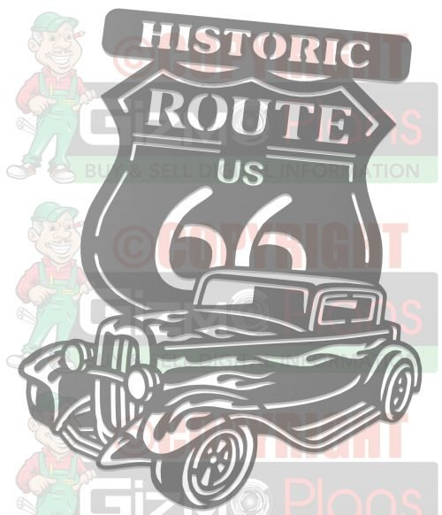 Historic Route 66 DXF CNC Plasma File