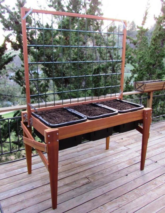 67x34 Tall Raised Garden Bed Plans (Including Tool and ...