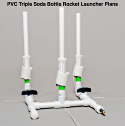 pvc triple soda water rocket plans
