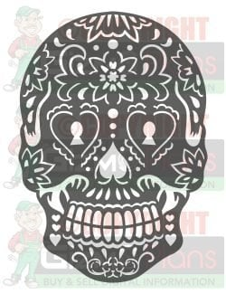 2 Pk Sugar Skull DXF CNC Cutting Files
