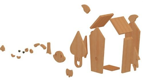 horse birdhouse plans decomposed view 2