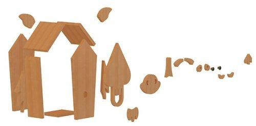 horse birdhouse plans decomposed view 3