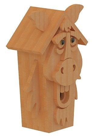 horse birdhouse plans side view