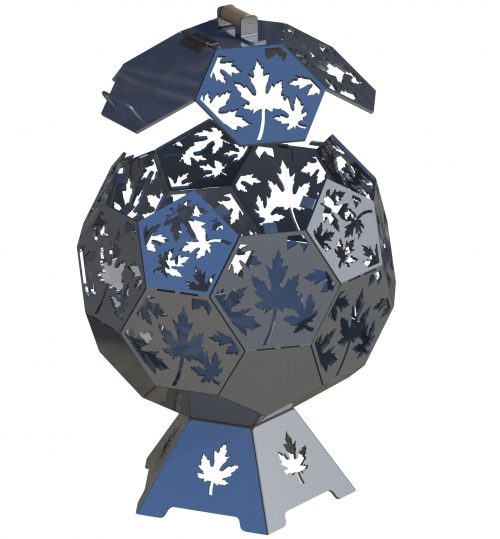 maple leaf geodesic dome cnc dxf files