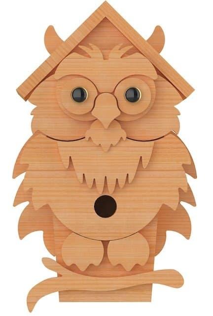 owl birdhouse plans