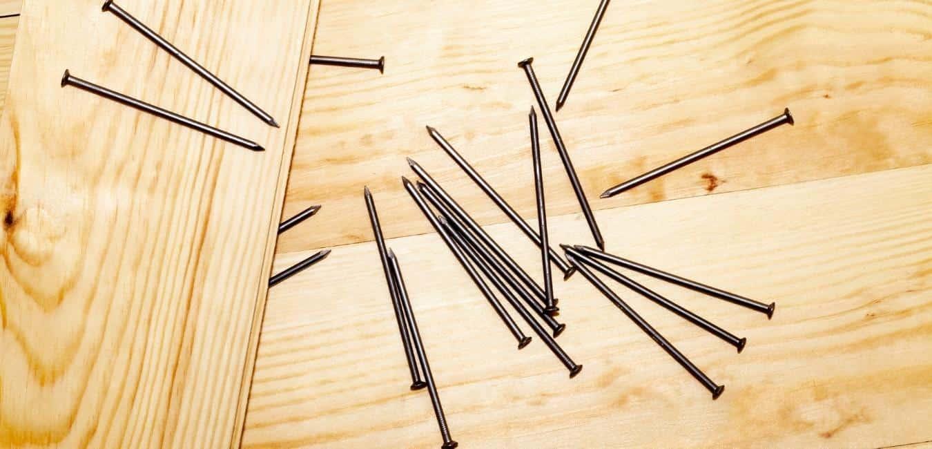 pressure treated wood and metal nails
