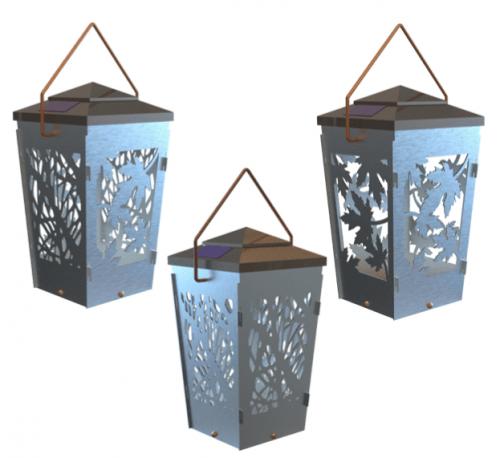 solar lantern cnc plasma dxf files
