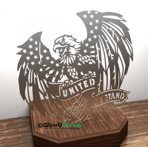united we stand cnc plasma dxf file