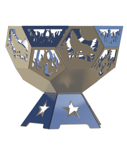 wolf dome fire pit dxf download